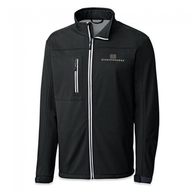 Camaro Hood Stripes Waterproof Jacket - Black