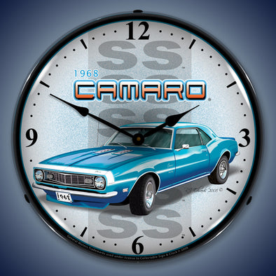 Lighted 1968 SS Camaro Clock