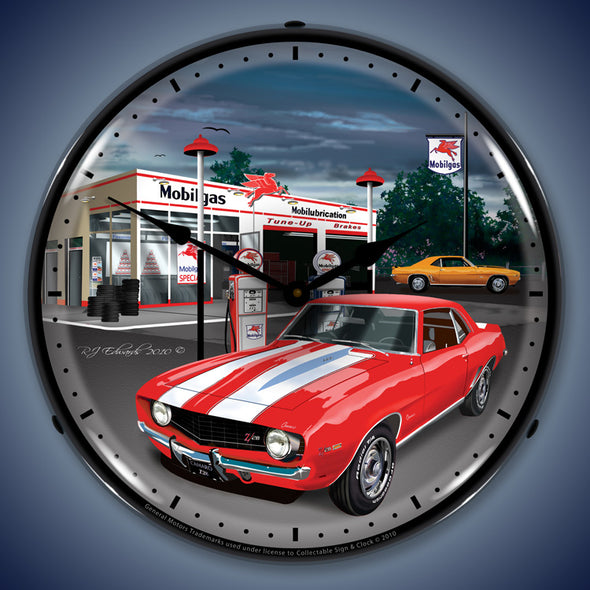 Lighted 1969 Camaro Mobil Gas Clock