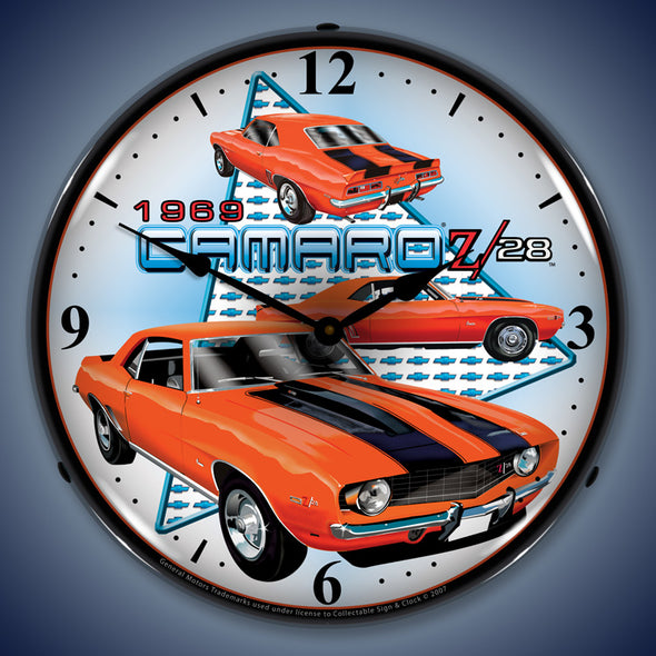 Lighted 1969 Camaro Z28 Clock