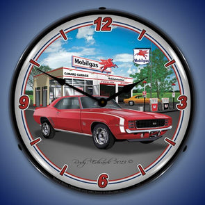 Lighted 1969 Camaro RS SS Mobil Clock