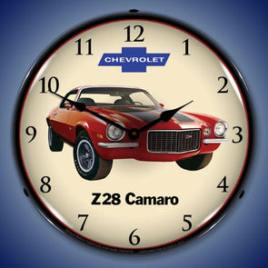 Lighted 1972 Z28 Camaro Clock