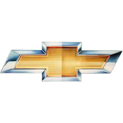 2010 Chevy Gold Bowtie Metal Sign