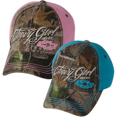 Chevy Girl Camo Cap