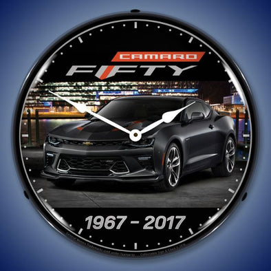 Lighted 2017 Camaro 50th Clock