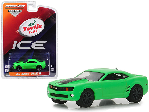 2012 Camaro SS Green w/ Black Stripe Turtle Wax Ice Smart Shield Technology Ad 1/64 Diecast