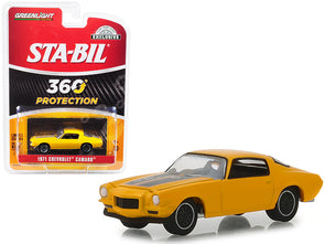 "1971 Camaro Metallic Yellow ""STA-BIL Protection"" Hobby Exclusive 1/64 Diecast"