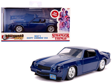 Billy's Camaro Z28 Metallic Dark Blue Stranger Things TV 1/32 Diecast
