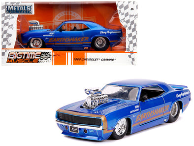 1969 Camaro Earthshaker Candy Blue W/ Gold Stripe Bigtime Muscle 1/24