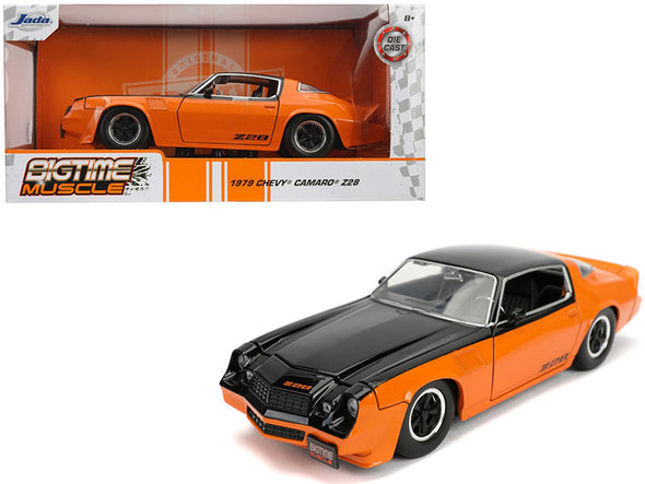 "1979 Camaro Z28 Black Orange ""Bigtime Muscle"" 1/24 Diecast"