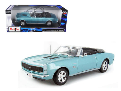 1967 Chevrolet Camaro SS 396 Convertible Turquoise 1/18 Diecast