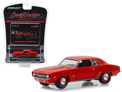 1969 Camaro ZL1 Hugger Orange Barrett Jackson Scottsdale Edition 1/64 Diecast