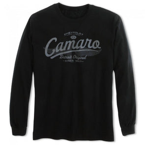 Camaro Detroit Original Long Sleeve Tee - Black