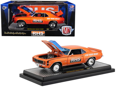 1969 Camaro SS/RS 396 RHS Metallic Orange/ Black Stripes Detroit Muscle 1/24