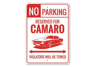 Camaro No Parking Reserved  - Aluminum Sign