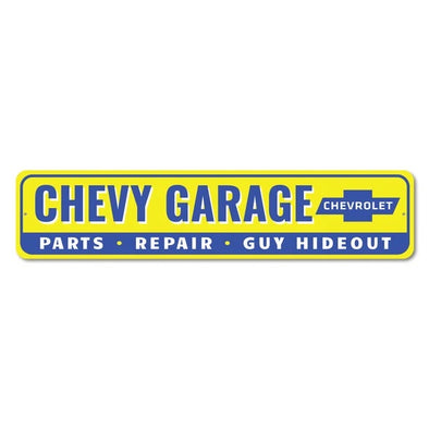 Chevy Garage Sign - Aluminum Sign