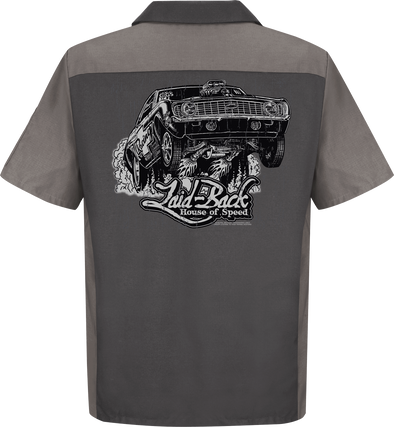 Wheels Up Camaro-Men's Mechanic Shirt