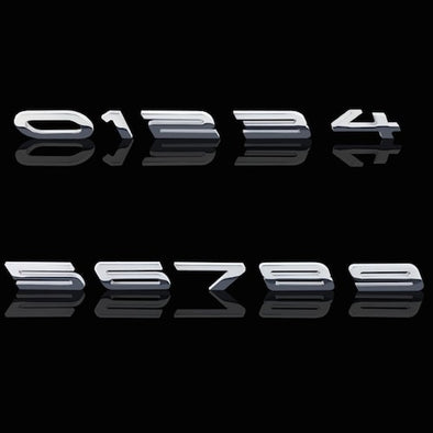 2010-2014 Camaro Custom HP Numbers Billet Chrome Badges
