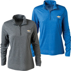 Chevrolet Gold Bowtie Ladies Cool & Dry Performance Quarter Zip Jacket