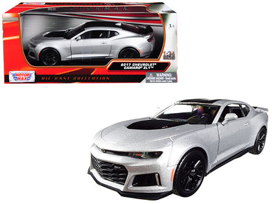 2017 Chevrolet Camaro ZL1 Silver with Black Stripe 1/24 Diecast