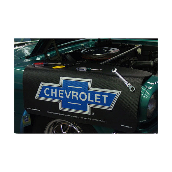 Chevrolet Blue Bowtie Logo Gripper Fender Cover/Mat