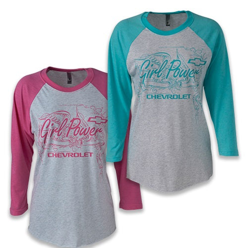 Chevy Girl Power 3/4 Sleeve Jersey Tee
