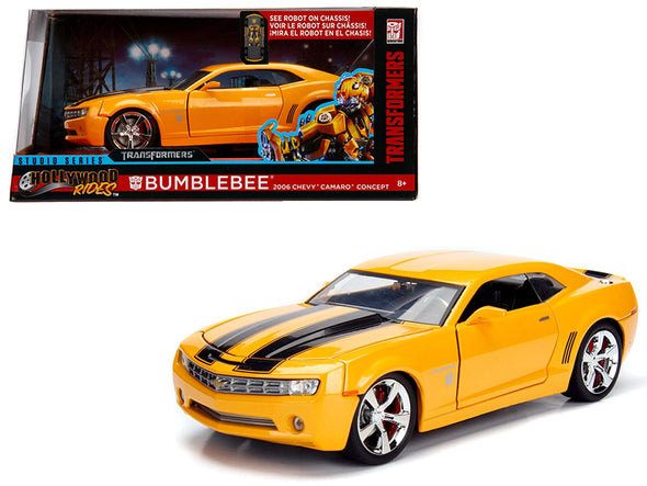 2006 Camaro Concept Bumblebee Yellow/ Transformers Movie 1/24 Diecast