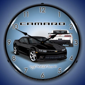 Lighted 2014 SS Camaro Black Clock