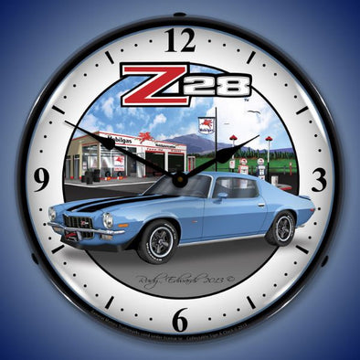 Lighted 1970 Z28 Camaro Clock
