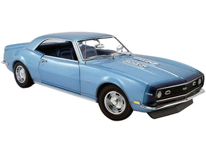 1968 Camaro SS Unicorn Grotto Blue Metallic with Blue Interior 1/18 Diecast