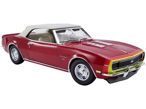 1968 Camaro SS Unicorn Convertible Matador Red1/18 Diecast