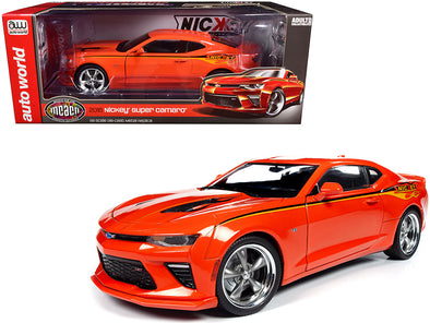 2016 Nickey Super Camaro Hugger Orange Stripes Flames MCACN 1/18 Diecast