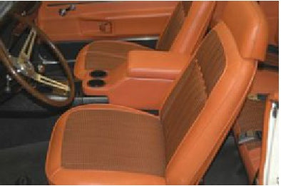 Camaro Floor Console, Vinyl Covered |Saddle, |1967-1969