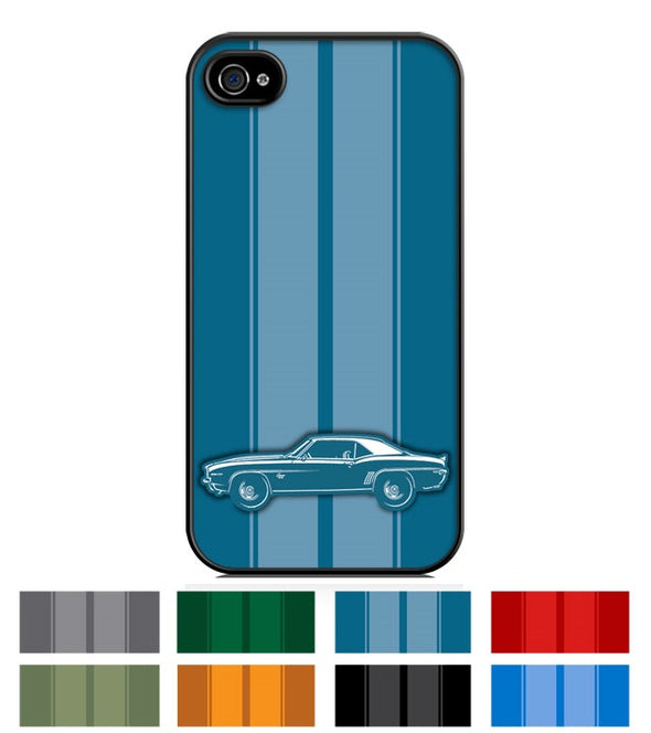 1969 Camaro SS Coupe Smartphone Case - Racing Stripes