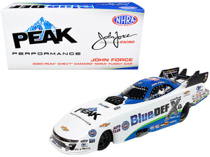"2020 Peak Camaro #4 John Force ""Blue DEF"" NHRA Funny Car 1/24 Diecast"