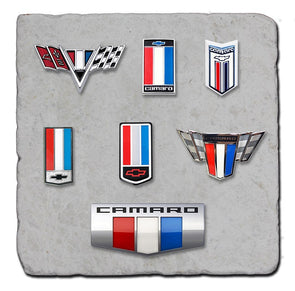 Camaro Badges Stone Coaster