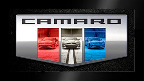 Camaro Six Triple Framed Canvas Art