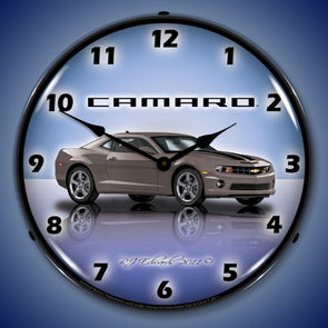 Lighted Camaro G5 Cyber Grey Clock