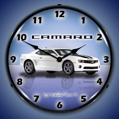 Lighted Camaro G5 Summit White Clock