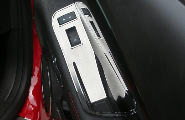 2012-2013 Camaro Door Handle Pull / Switch Deluxe Trim Plate | 2Pc | Coupe only