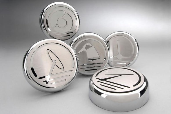 2010-2015 Camaro V6/V8 - Fluid Cap Cover | 5Pc Set | Silver