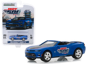 2018 Camaro SS Convertible Blue 102nd Indy 500 PennGrade Motor Oil 1/64 Diecast