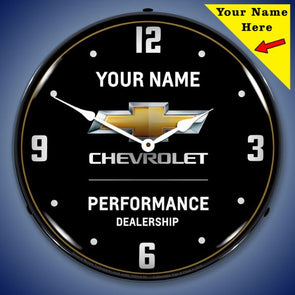 Chevrolet Performance 2 Lighted Clock- Personalize Option
