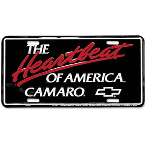 Heartbeat of America Camaro License Plate
