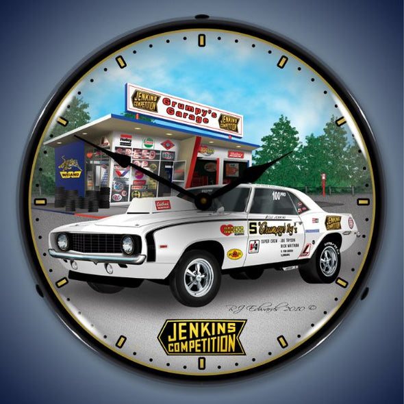 Lighted Jenkins 1969 Camaro Clock