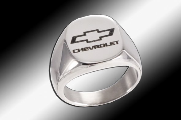 Chevy Bowtie Emblem | Polished Signet Ring