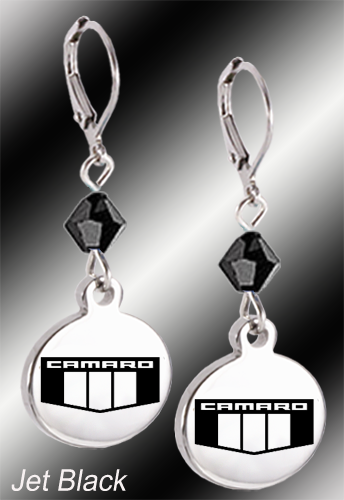 Camaro Emblem | Swarovski Crystal | 5/8'' Earrings