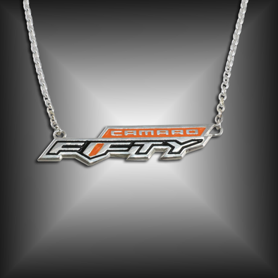 Camaro Fifty Emblem Necklace | Sterling Silver
