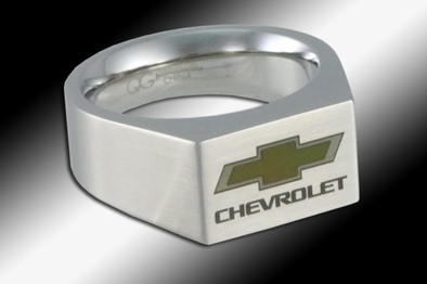 Chevy Bowtie Color Emblem | Signet Ring