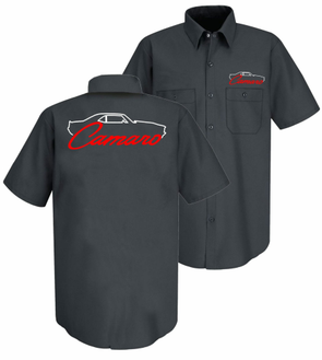 Camaro 1st Generation Silhouette Mechanic Shirt